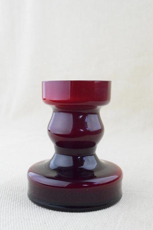 Alsterfors Red Cased Glass Vase