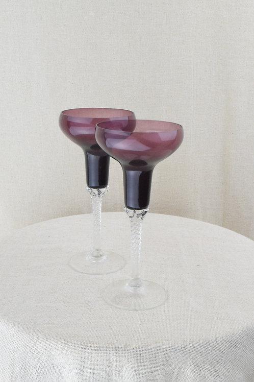 Violet Sherry Glasses