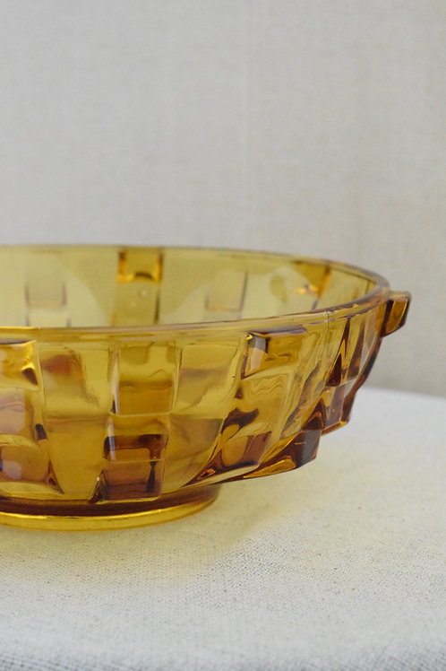 Art Deco Amber Bowl