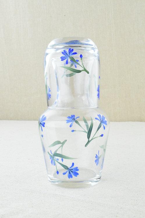Floral Motif Carafe & Glass