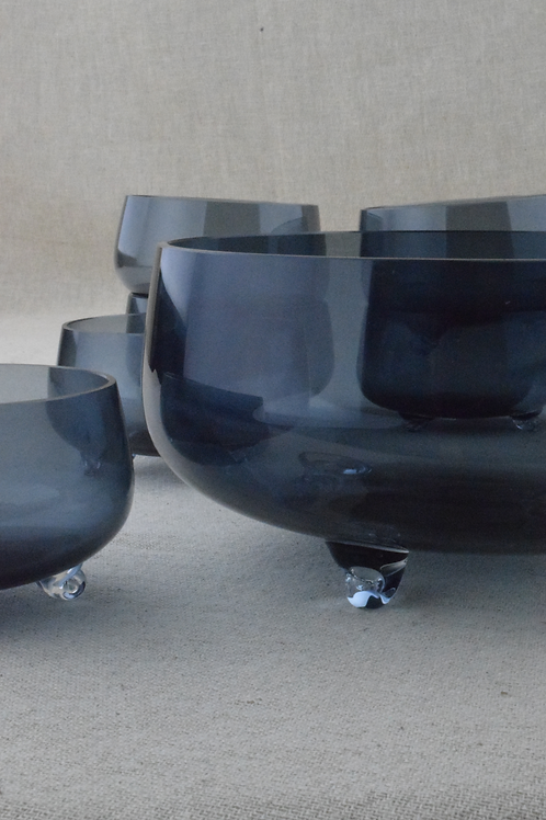 Blue Glass Bowl Set