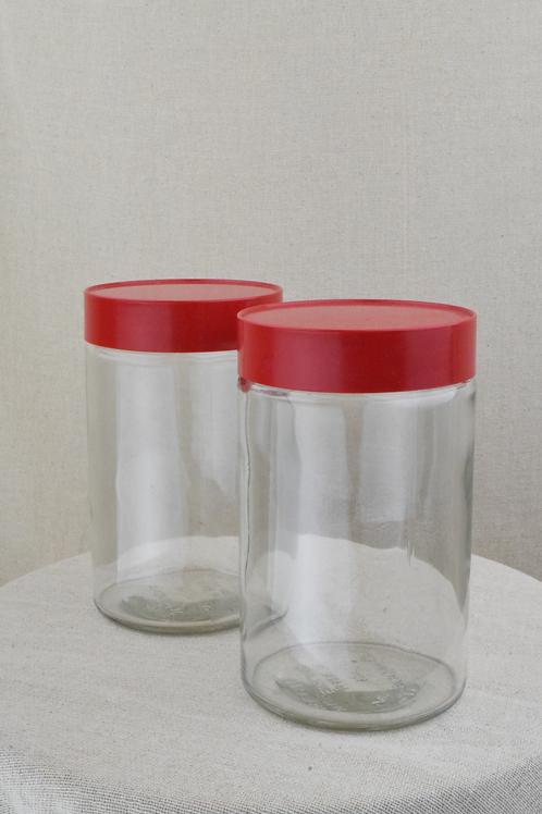 Retro Candlelight Storage Jars