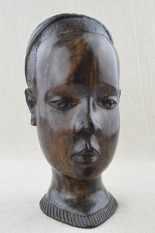 African Male Bust Sculpture