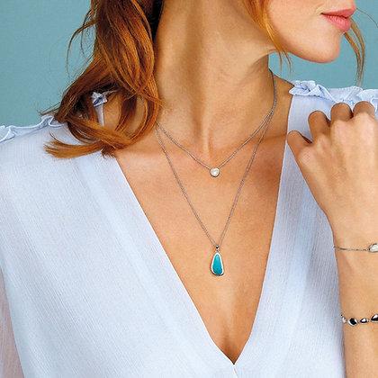 Coast Pebble Turquoise Necklace