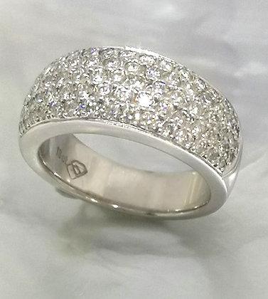 Pave Set Diamond  Dome Ring