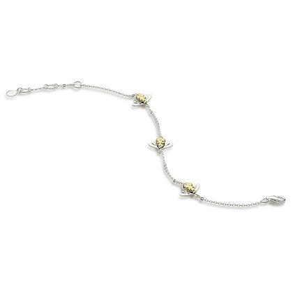 Blossom Triple Bumblebee Gold Bracelet