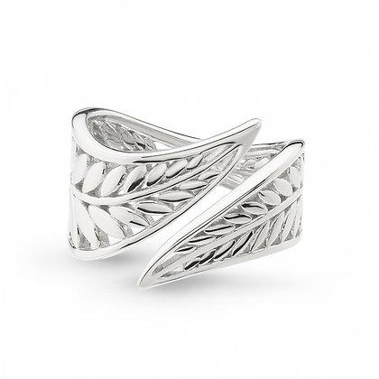 Blossom Eden Wrapped Leaf Ring