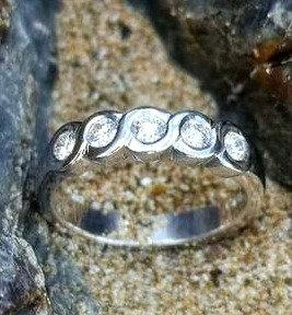5 stone Diamond Eternity Ring