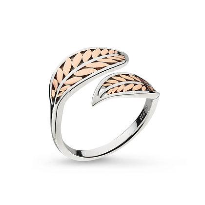 Blossom Eden Blush Leaf Split Ring