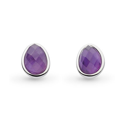 Coast Pebble Amethyst Large Stud Earrings