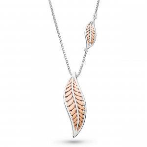 Blossom Eden Blush Leaf Necklace