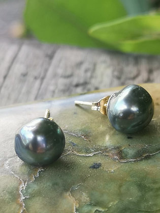 Tahitian Keshi Pearl Stud Earrings