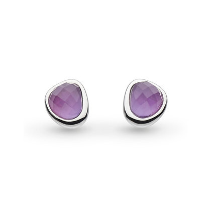 Coast Pebble Amethyst Mini Stud Earrings