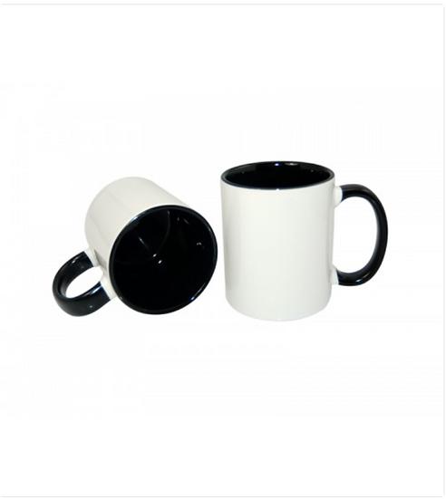 11oz Inner Rim Color Mug Black (36pcs/Case)___ (MUG-IR11K )