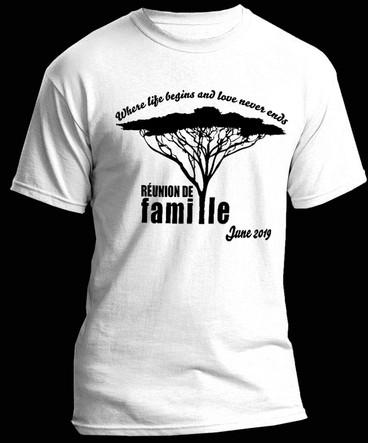 T-shirt Reunion De Famile 2019