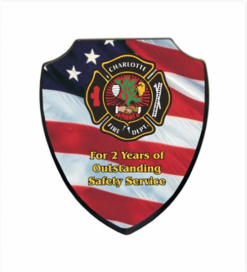 """5745-Shield Plaque, Small 5""""X6"""""""