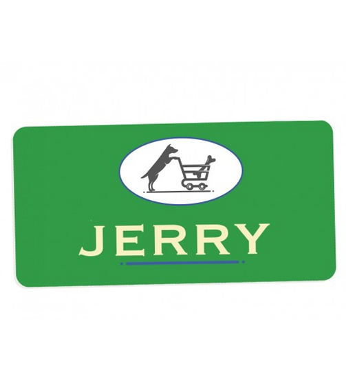 "5786 Gloss White FRP 1.5""X3"" Name Badge"