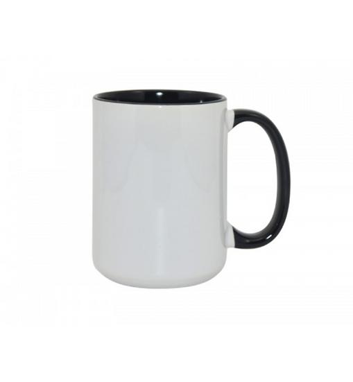 15oz Inner Rim Color Mug Black