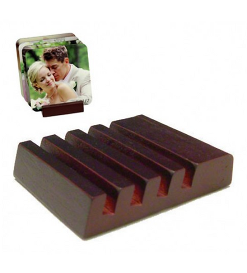 """5701-Slotted Mahogany Coaster Holder 2.5""""X3"""""""