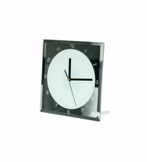 "Glass Clock 8"" Square (SG-14)"