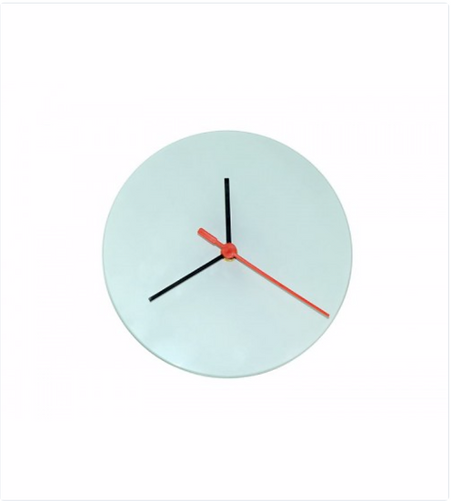 "12"" Glass Clock For Sublimation Printing (GCLOCK02)"
