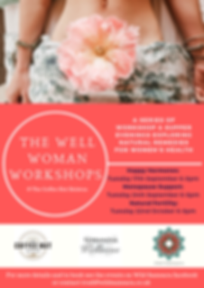 Well Woman Workshops Coffee hut poster .