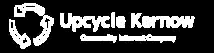 Upcycle kernow horizontal logo white  PN