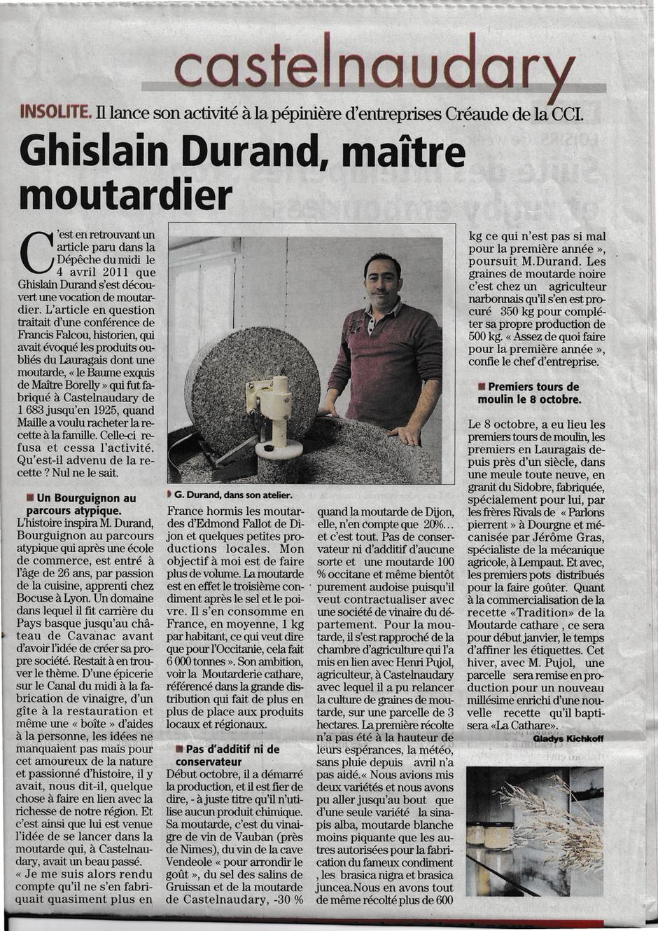 article de la dépêche du midi 09/11/2019