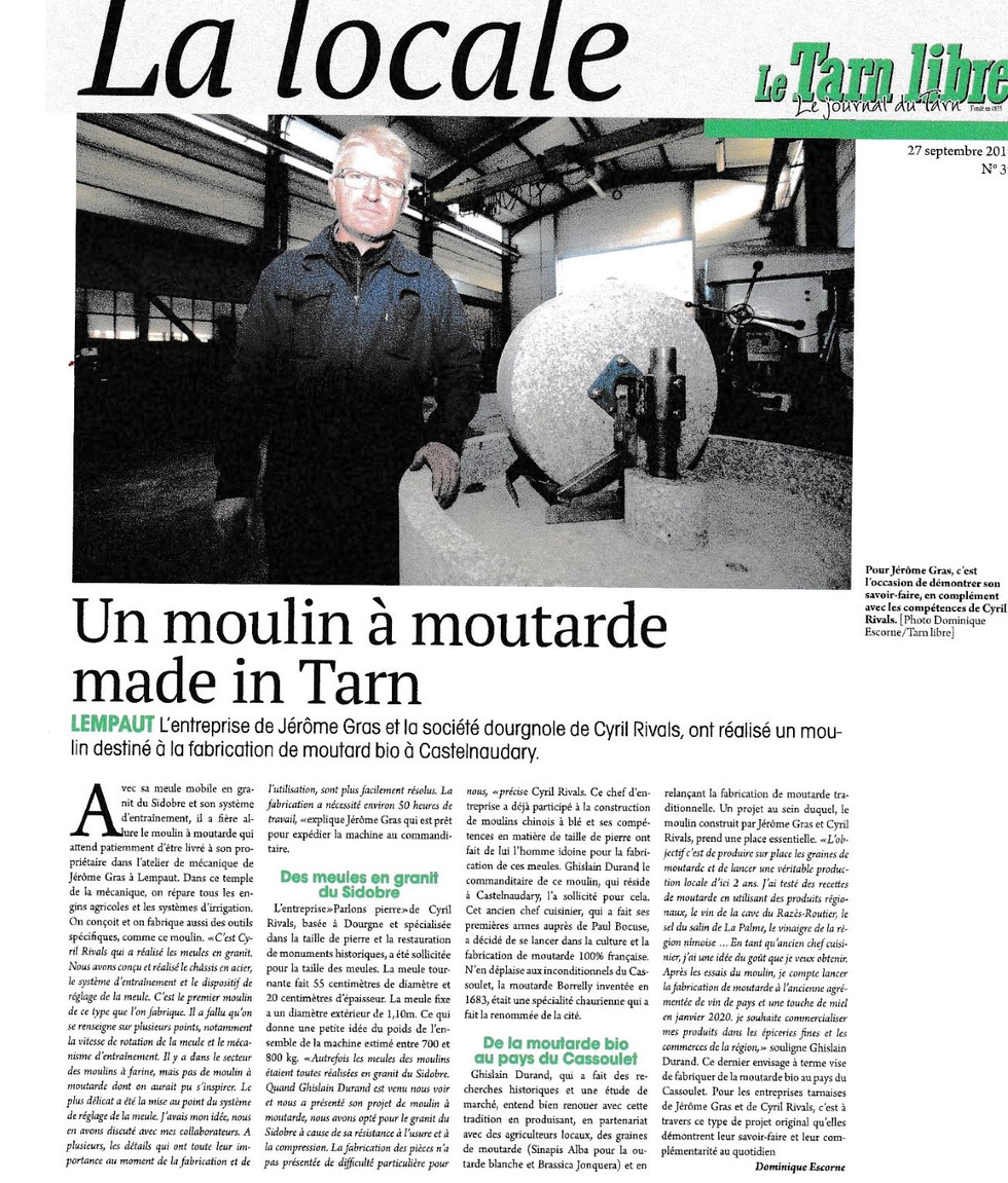 article du Tarnlibre du 27/09/2019
