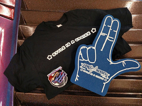 LOWSTYLE T-SHIRT and FOAM FINGER (U.S Sizing)