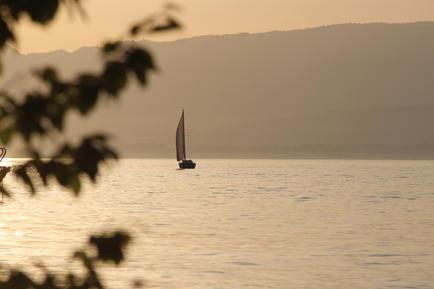 Bateau sur le lac Léman