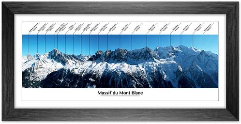 Cadre en bois - Panoramique du Mont Blanc