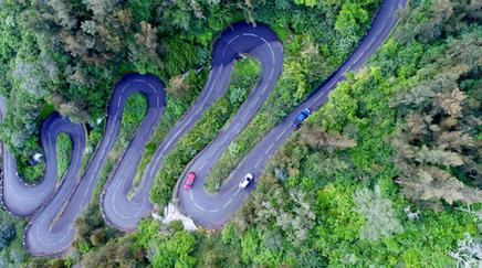 Route de la Réunion en drone