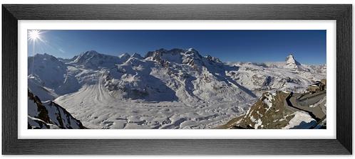Cadre en bois - Panoramique Cervin