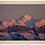 Thumbnail: Cadre en bois - Coucher de soleil sur le Mont Blanc