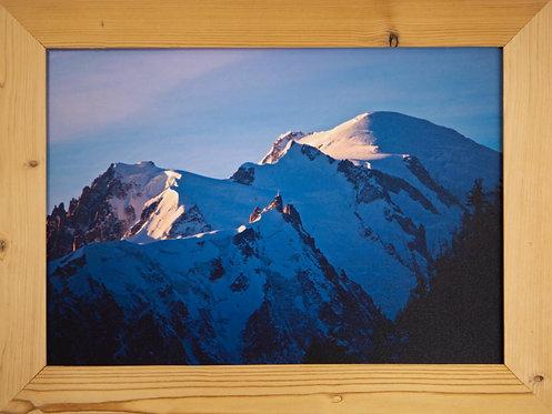 Cadre bois brossé 50x35cm - Mont-Blanc