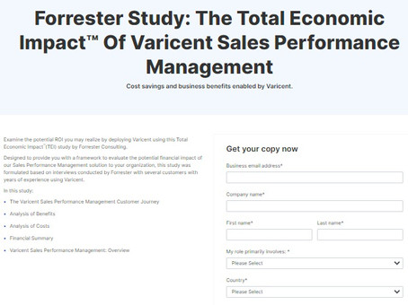 Forrester Study: The Total Economic Impact™ Of Varicent Sales Performance Management