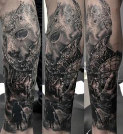 tatouage Jason black corner tattoo