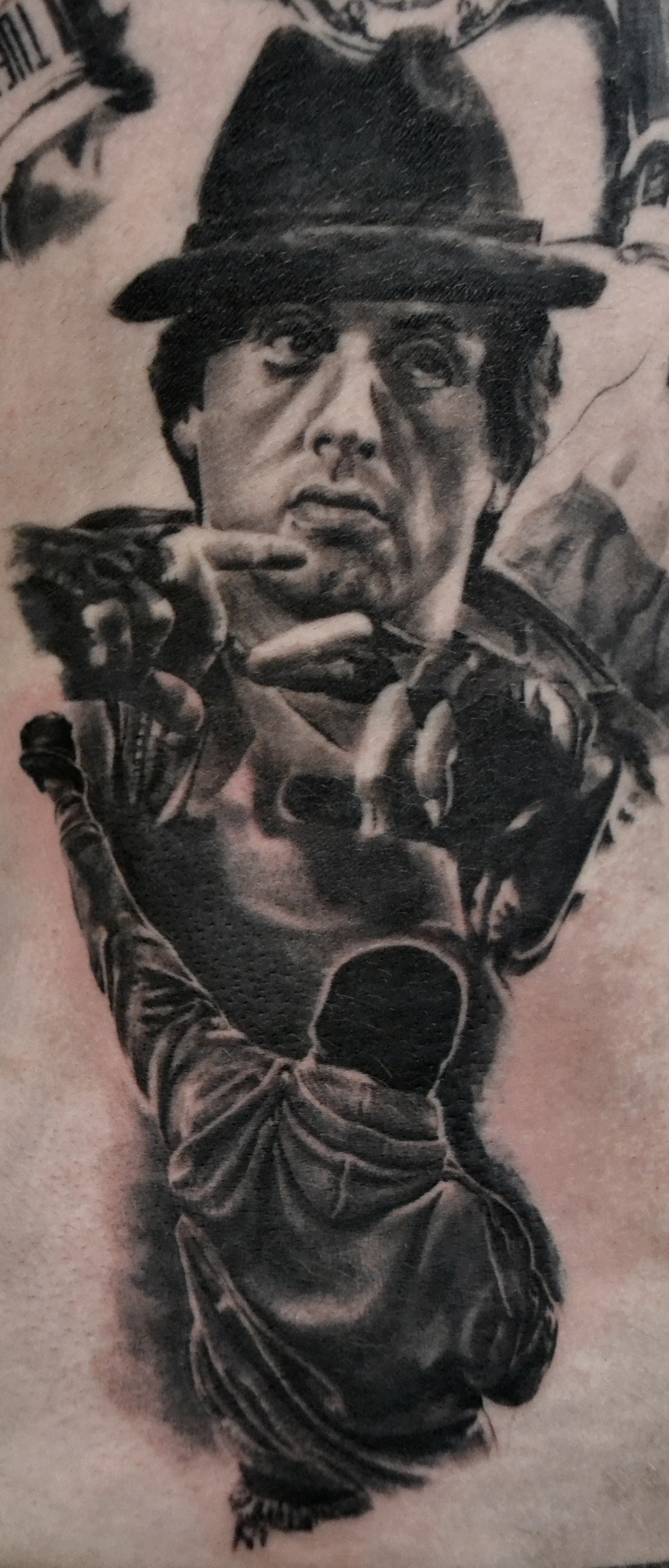 tatouage rocky black corner tattoo