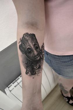 tattoo groot black corner tattoo