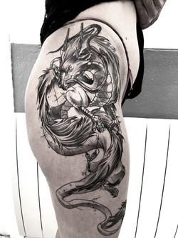 tattoo dragon black corner tattoo