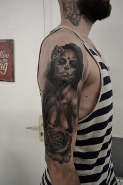 tatouage catrina black corner tattoo