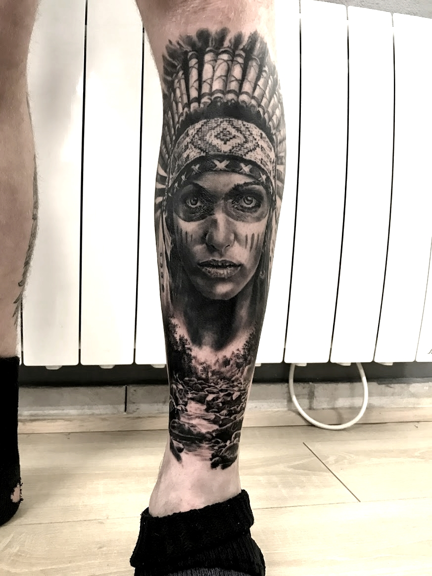 tattoo indienne black corner tattoo