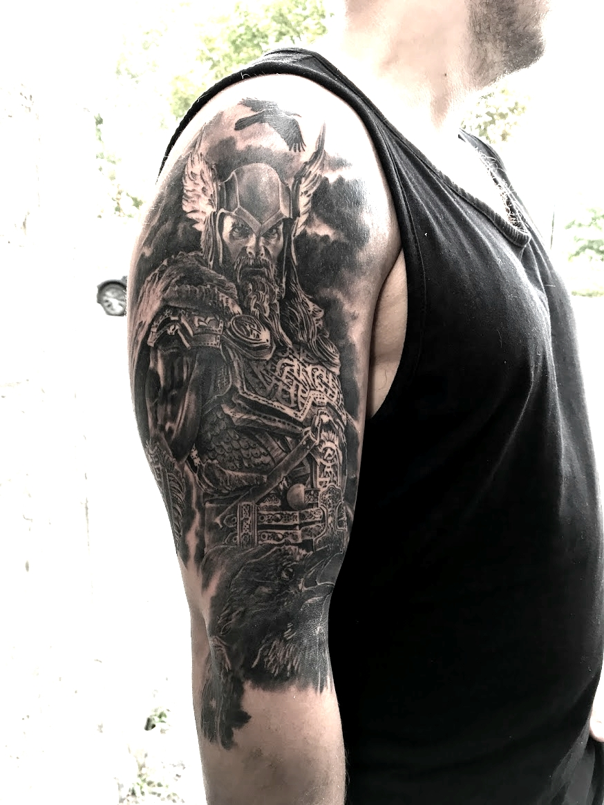 tattoo odin black corner tattoo