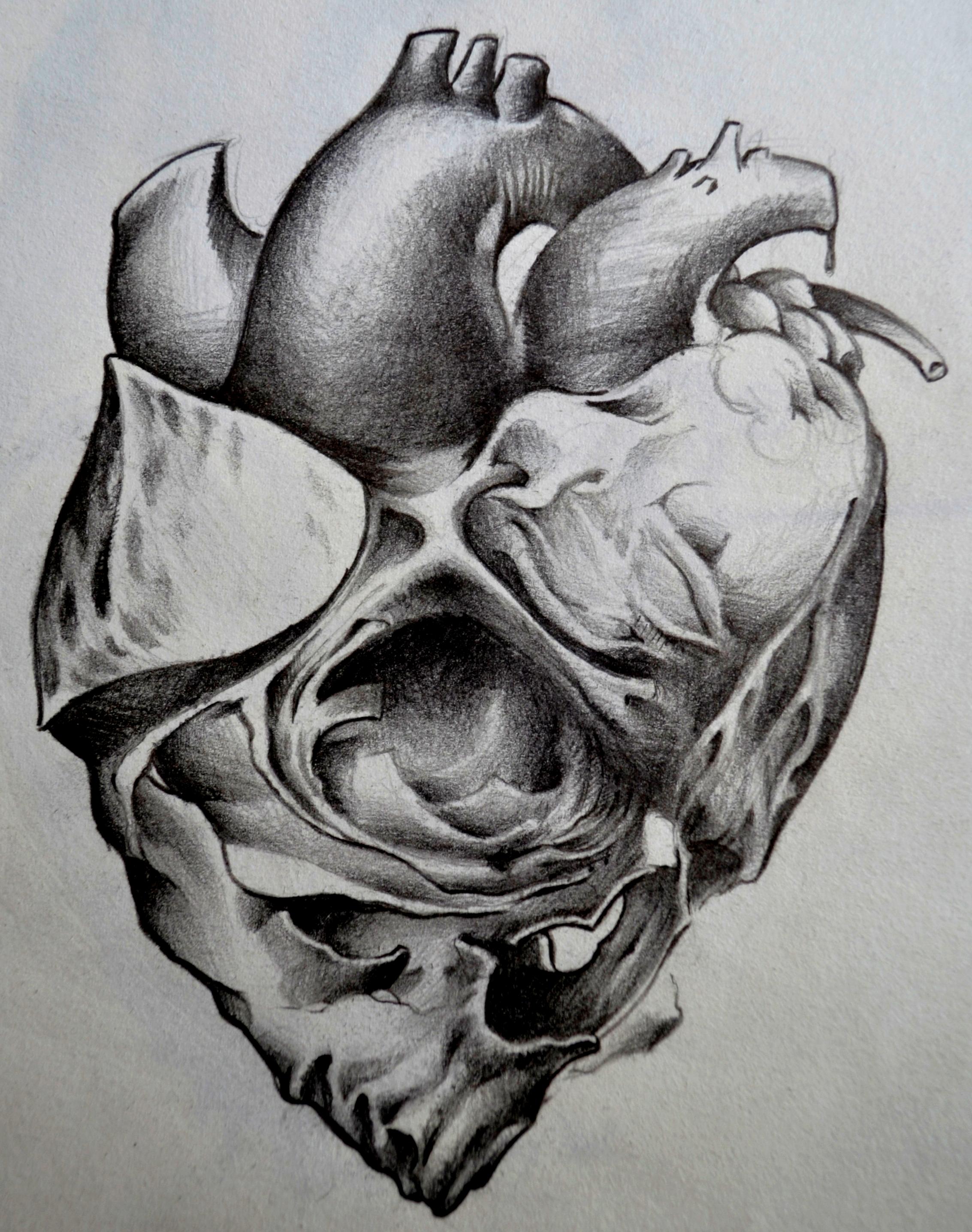 sketch skull black corner tattoo