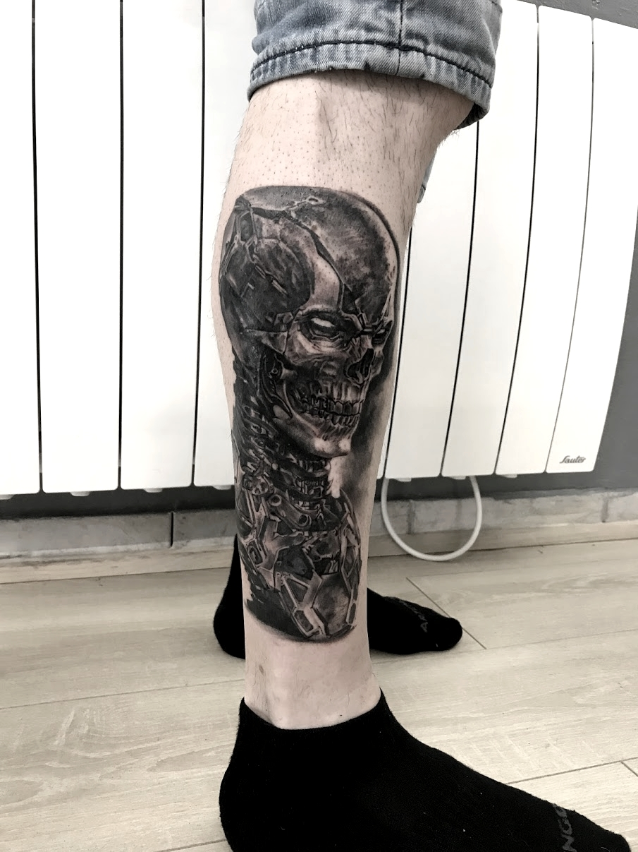 tattoo cyborg black corner tattoo