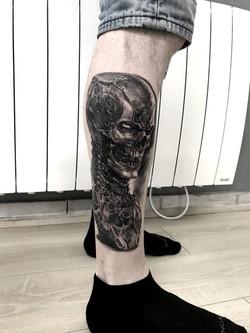 tattoo cyborg black corner tattoo