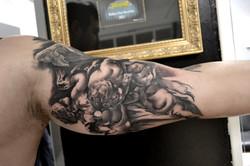tattoo angels black corner tattoo