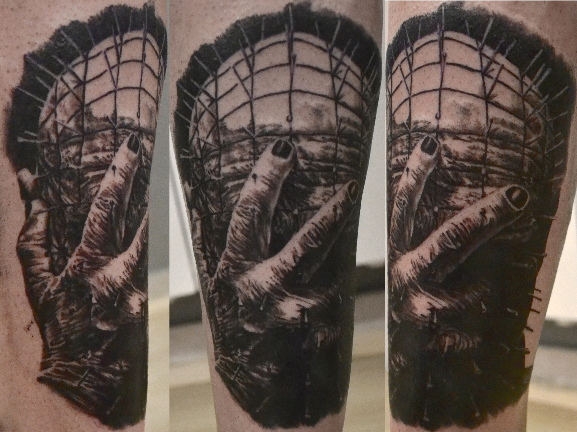 tatouage pinhead black corner tattoo