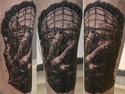 tatouage pinhead black corner tattoo